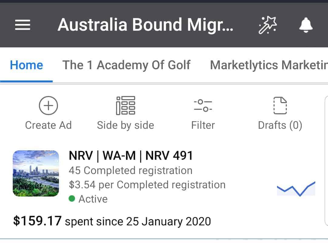 Australia Bound Migration Facebook Ads